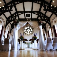 Victoria Hall, Ealing Town Hall Set for a wedding ceremony Credit Hina Photography