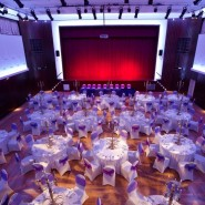 Assembly Hall, Greenford Hall Set for dinner with a top table